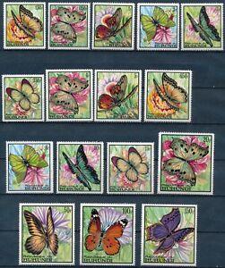 [P16008] Burundi 1968 : Butterflies - Good Set Very Fine MNH Stamps - $70