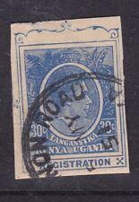 Kut George Vi 30c Registration Postal Stationary Cut Out Vgc