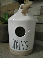"Rae Dunn Artisan Collection By Magenta Exposed Clay ""SPRING"" Birdhouse New"