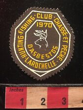 Vtg 1970 Patch Canada Hunt Fish Club Chasse et Pêche LaRochelle d'Asbestos 60B