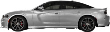C to A Pillar Blackout Vinyl Graphic for Dodge Charger All Trim Levels 2015 & Up