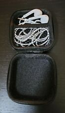 iPhone Apple White Earbuds In Case Phone PC Audio Headphones 3.5mm Tested Works
