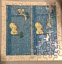 """Springbok Mini Puzzle """"Hi"""" Mouse & Bear Signed Brewer  - 7"""" Missing 1 Piece 1972"""