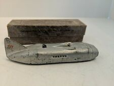Dinky Toys 23M, Thunderbolt racing car 1938-1940, box dated Oct. 1938. Excellent