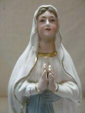 antike große Figur 44 cm aus Porzellan Bisquitporzellan Lourdes Madonna um 1920