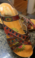 L'Artiste by Spring Step Livingstone Wedge Sandals Women's 38/ US 7.5