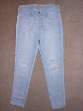 WOMENS SIZE 0 fits like size 1 HOLLISTER DESTROYED LOW RISE BOYFRIEND JEANS NWT