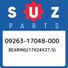 09263-17048-000 Suzuki Bearing(17x24x27.5) 0926317048000, New Genuine OEM Part