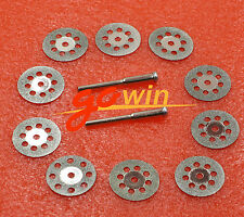 10PCS  Vented Rotary Diamond Cutting Disks+Mandrel Dremel Tools DIY 22mm