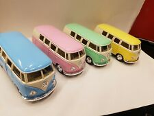 Bundle of 4 x kinsmart 1962 vw bus TOY cars collection models diecast 1/32 scale