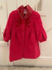 Nicholas & Bears Fushia Girls Pink Coat 2 Yrs