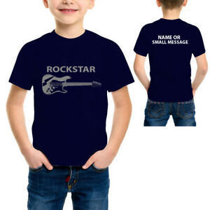 Little Rock star Funny Rockstar Guitar T-Shirt Kids Boys and Girls