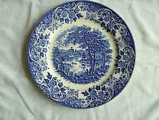 "Vintage Broadhurst Ironstone Blue/White Collectors 9.5"" Plate THE ENGLISH SCENE"
