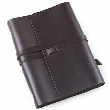 Ancicraft Refillable Leather Journal Diary Notebook With Strap A5 Lined Gift