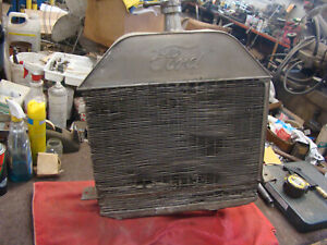 USA OEM FOMOCO 1913 1914 FORD Model T white Brass Radiator 1909 1910 1911 1912 ?