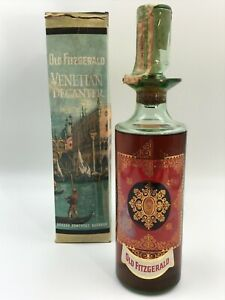 WHISKY OLD FITZGERALD VENETIAN DECANTER 6 YEAR OLD 86 PROOF BOURBON WHISKEY 1964