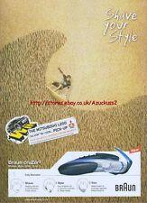 "Braun Cruzer3 ""Shave Your Style"" 2004 Magazine Advert #2"
