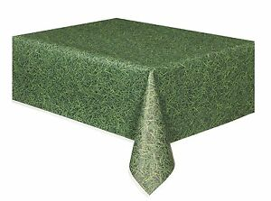 Green Grass | Turf | Patterned Green Plastic Party Tablecover Tablecloth 1-5pk