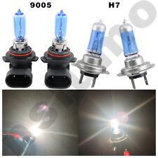 Combo H7 9005-HB3 White 55W/65W Halogen 6000K Headlight Bulb  High Low Beam Lamp