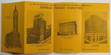 Kinnear Pressed Radiators Heating Advertising Brochure Pittsburgh PA