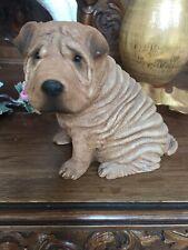 Vintage Sandicast 1986 Red Chinese Shar-Pei Dog~Signed By Artist~ Sandra Brue