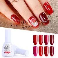 10ml BORN PRETTY Glitter Red Nail Art Gel Polish Bling Shining Soak Off Varnish