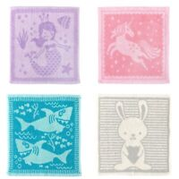 Pack of 4 Face Cloth Children 100% Egyptian Cotton Baby Saliva Bibs Wash Cloths