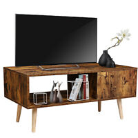 TV Stand Cabinet Console Entertainment Center Accent End Table & Storage Shelf