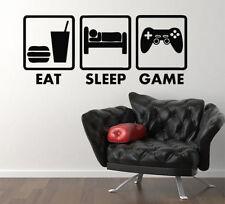 Comer dormir juego XBOX PS WII ventiladores Dormitorio Calcomanía Pared Adhesivo Foto Murales, G2