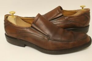 Ecco Windsor Amber Brown Leather Slip On Loafers Shoes Sz 13/13.5 47 Extra Width