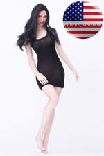 """1/6 Scale Sexy Mini Black Dress For 12"""" PHICEN Hot Toys VERYCOOL Female Figure"""