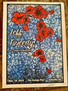 JEFF TWEEDY PRISON ART CONCERT POSTER ORANGE PEEL ASHEVILLE NC 2019 SCREEN PRINT