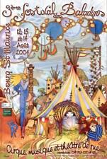 AFFICHE BALADINS 2004 - PEINTURE & INFOGRAPHIE - FLEURANTIN DIDIER  ART NOUVEAU