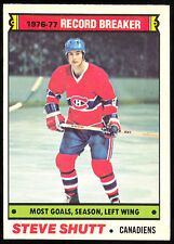 1977 78 OPC O PEE CHEE 217 STEVE SHUTT RECORD BREAKER NM MONTREAL CANADIENS CARD