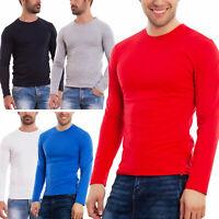 Maglia uomo manica lunga sottogiacca maglietta cotone basic nuova M1201