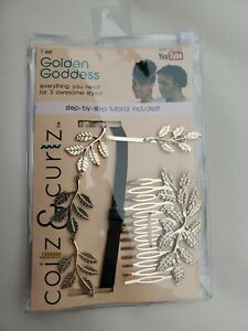 Coilz & Curlz Golden Goddess - Hair Accessory Kit for coily & curly beauties-NIP