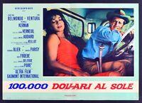 T105 Fotobusta 100000 Dollars Al Sonnenbrille Au Soleil Belmondo Ventura 7