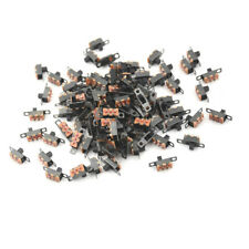 100 Pcs 3 Pin 2 Position Mini Size SPDT Interruttori a slitta On Off PCB 5V   Nd