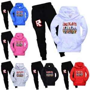 Gifts Kids Boys Girls Roblox Hoodie Jumpers Sweatshirt+Pants Trousers 2PCS Set