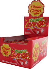 Cherry & Cola Stix Chupa Chups Fruit Flavoured Stick Sweets Candy 10g 10, 20, 30
