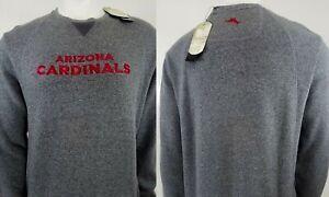 TOMMY BAHAMA Football men's $155 NFL Arizona Cardinals Cotton Crew Sweatshirt L