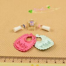 1/12 Dollhouse Miniature baby milk bottle bib Shower bath