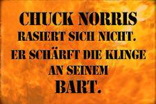 Chuck Norris Spruch 14 Blechschild Schild gewölbt Metal Tin Sign 20 x 30 cm