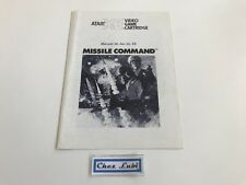 Notice - Missile Command - Atari XE - FR