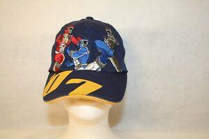 Disney Store Red Blue Black Power Rangers 07 XS Adjustable Dark Blue Cap Hat