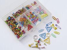 Plastic Storage Box + over 200 Multi-coloured Metal Fastenings - Scrapbooking