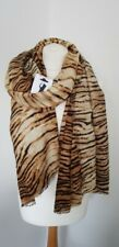 Zara Soft Touch Cosy Tiger Animal Print Scarf 100% Genuine BNWT