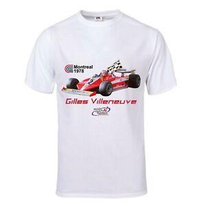 T-Shirt blanc 1978 Gilles-Villeneuve - White T-Shirt Gilles-Villeneuve
