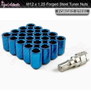 Blue Tuner Wheel Nuts x 20 12x1.25 For Subaru BRZ Impreza Forester Legacy WRX