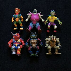 Vintage Lot Of 6 TEENAGE MUTANT NINJA TURTLES TMNT Figures Lot 90s